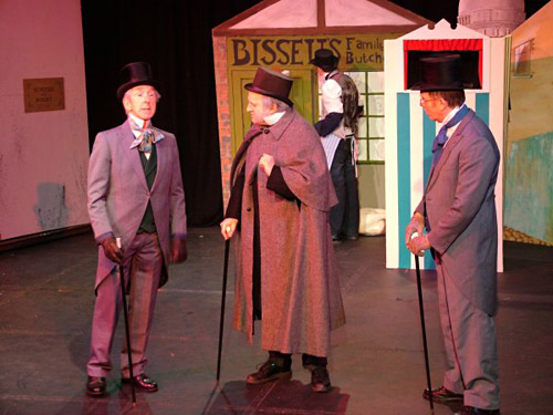 Mr Jollygoode, Ebenezer Scrooge and Mr Hearty