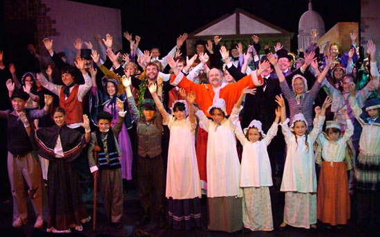 The full cast of Scrooge