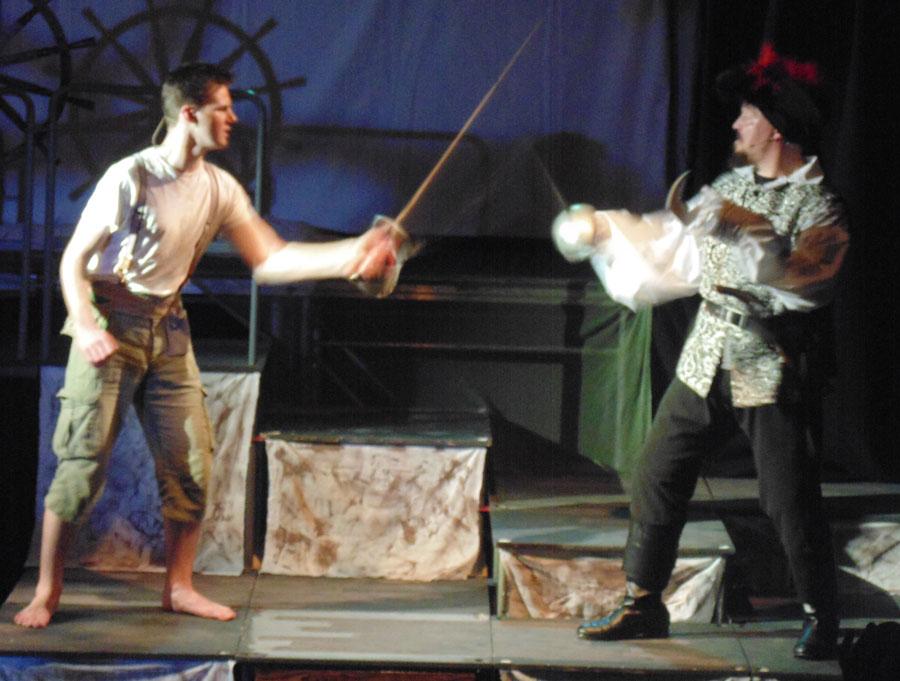 37 The final battle between Peter Pan and Hook